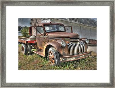 Tough Old Workhorse Framed Print by J Laughlin