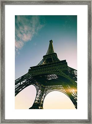 Tour Eiffel Framed Print by Images by Fabio