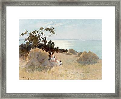 Towards Evening Framed Print by Arthur Claude Strachan