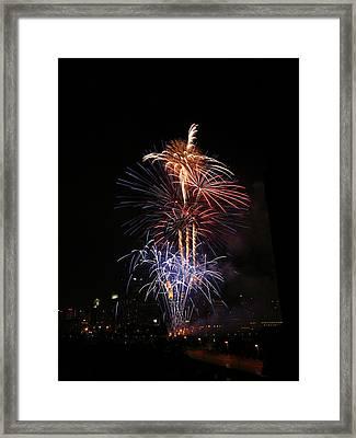 Tower Of Fire Power Framed Print by Heidi Hermes