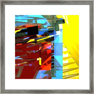 Tower Series 32 Golden Stairway Framed Print by Russell Kightley