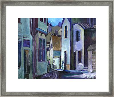 Town In Italy Framed Print by Carol Mangano