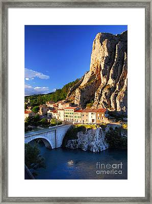 Town Of Sisteron In Provence France Framed Print by Elena Elisseeva