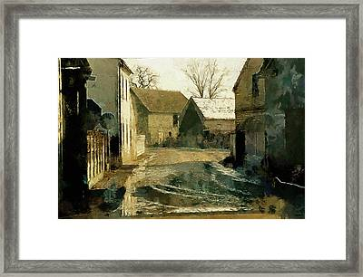 Town Road Framed Print by Marcin and Dawid Witukiewicz