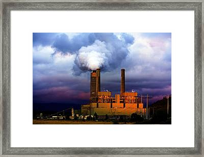 Toxic Beauty Framed Print by Wendy White