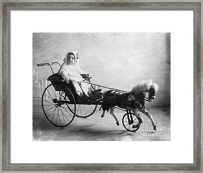 Toys: Horse Carriage, 1911 Framed Print by Granger