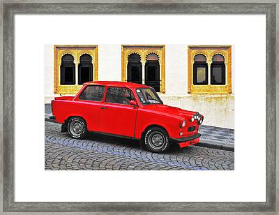 Trabant Ostalgie Framed Print by Christine Till