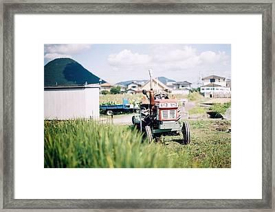 Tractor Framed Print by Dapple Dapple