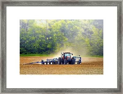 Tractor Work Framed Print by Bill Tiepelman
