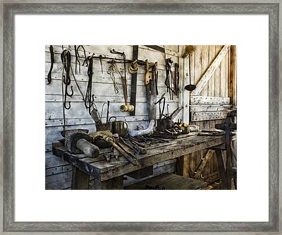 Trade Tools Framed Print by Peter Chilelli
