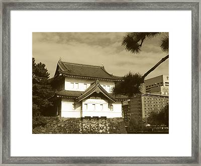 Traditional Building In Tokyo Framed Print by Naxart Studio