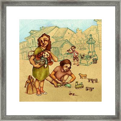 Traditional Game 3 Framed Print by Autogiro Illustration