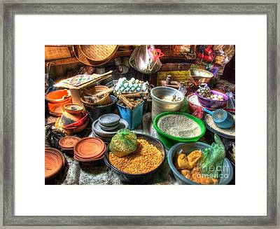 Traditional Grocery Shop Framed Print by Charuhas Images