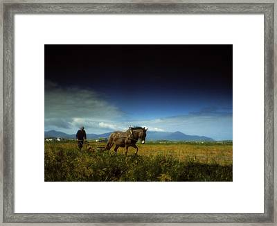 Traditional Harrowing, Castlegregory Framed Print by The Irish Image Collection