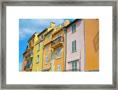 Traditional Houses Framed Print by John Harper