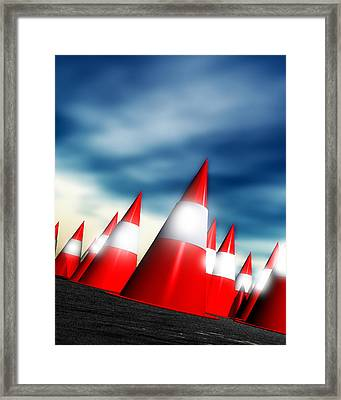 Traffic Cones Framed Print by Victor Habbick Visions