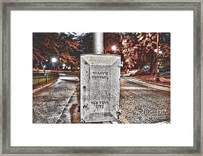 Traffic Control Box Framed Print by Paul Ward