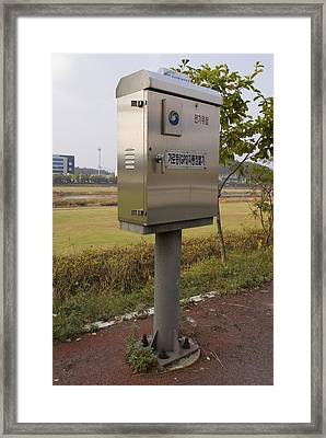 Traffic Control Cabinet With Gps Framed Print by Mark Williamson