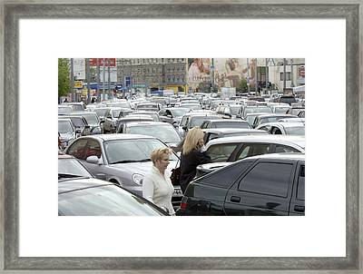 Traffic Jam, Moscow Framed Print by Ria Novosti