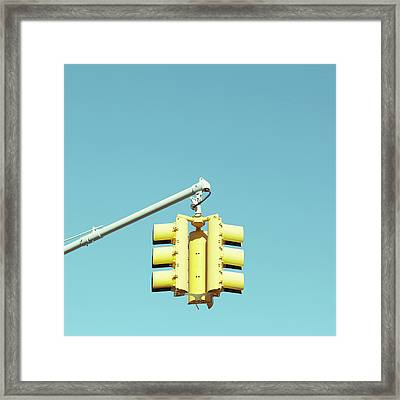 Traffic Light Framed Print by Justinwaldingerphotography