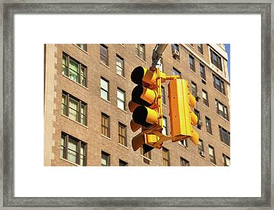 Traffic Signal Framed Print by Keith McInnes Photography
