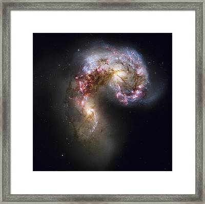 Trailing Streamers Of Gas And Stars Framed Print by ESA and nASA