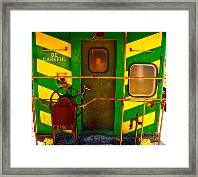 Train Caboose Framed Print by Chuck Taylor