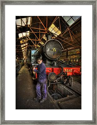 Train Of Thoughts Framed Print by Evelina Kremsdorf