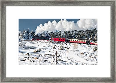 Train On The Brocken (harz) Framed Print by © Finn Gonschior