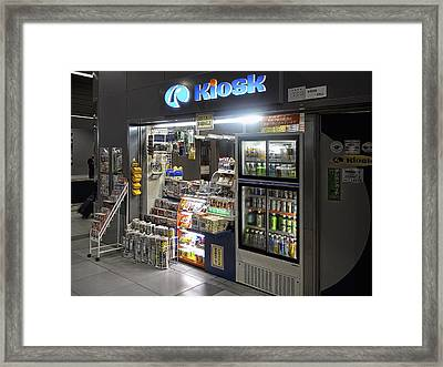 Train Station Kiosk - Japan Framed Print by Daniel Hagerman