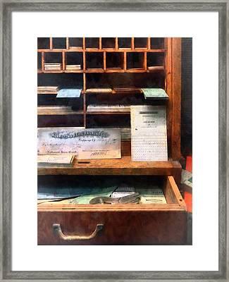 Train Ticket Office Framed Print by Susan Savad