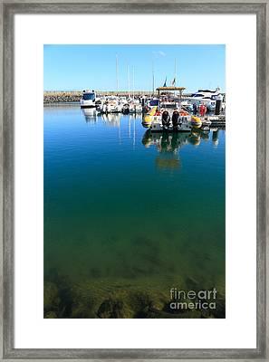 Tranquility At The Marina Framed Print by Gaspar Avila