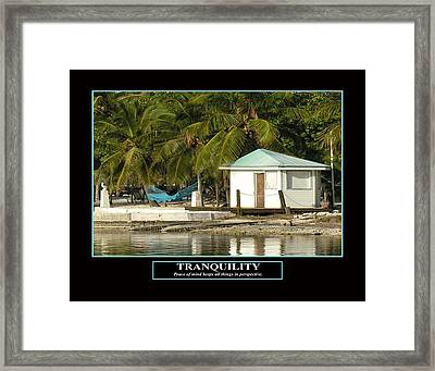 Tranquility Framed Print by Kevin Brant