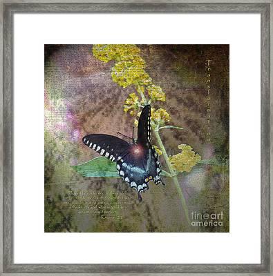Transformation Framed Print by Patricia Griffin Brett