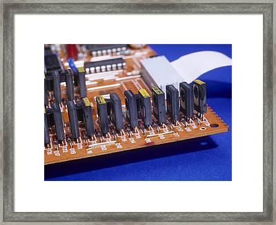 Transistors And Diodes Framed Print by Andrew Lambert Photography