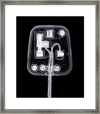 Transparent Plug, X-ray Artwork Framed Print by Mark Sykes