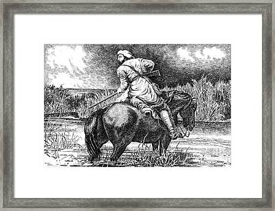 Trapper's Last Shot Framed Print by Gordon Punt
