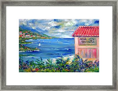 Trattoria By The Sea Framed Print by Patricia Taylor