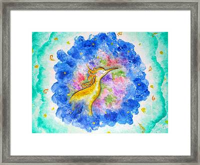 Treasure In The Air Framed Print by Asida Cheng