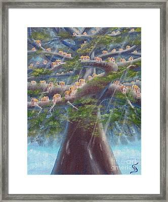 Tree Houses From Arboregal Framed Print by Dumitru Sandru