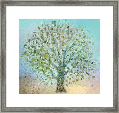 Tree In Autumn Framed Print by Gina Lee Manley