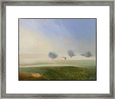 Trees In The Mist Framed Print by Gloria Cigolini-DePietro