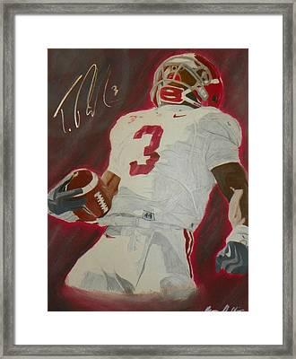 Trent Richardson Alabama Crimson Tide Framed Print by Ryne St Clair