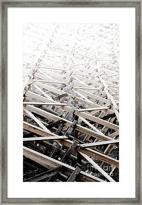 Trestle Stairway Kinsol Trestle Framwork Abstract To Distance Framed Print by Andy Smy