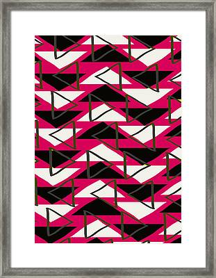 Triangles Framed Print by Louisa Knight