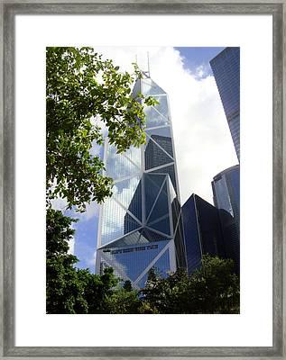 Hong Kong Framed Print featuring the photograph Triangulation by Roberto Alamino