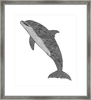 Tribal Bottle Nose Dolphin  Framed Print by Carol Lynne