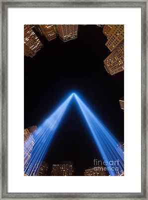 Tribute In Light Xiv Framed Print by Clarence Holmes