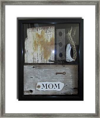 Tribute To Mom Framed Print by Snake Jagger