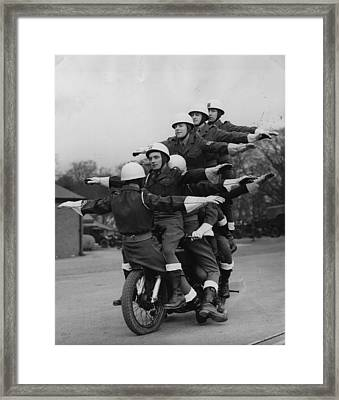 Trick Cyclists Framed Print by Fox Photos